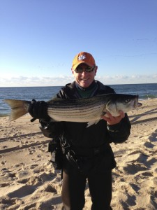 Bucktailin' Billy: Sunrise striper on the beach