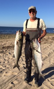 ROSH HOSHANA EBB TIDE: Amazing Randy nailed bluefish up to 15 pounds.
