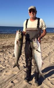 ROSH HOSHANA EBB TIDE: Amazing Randy nailed bluefish up to 15 pounds.