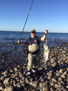 SWEET CATCH: Bluefish for Jimmy Meeks on the high holy days of surfcasting.