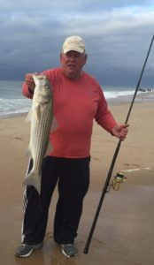 GET AWAY FISH: Verizon Charlie with a Rosh Hoshanah striper