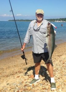 BIG BLUE: A bloody battle at Fort Pond Bay, Montauk. Click here for extended video