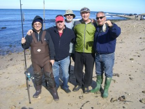 """CCNY--The Red Hill Capos Club of New York (l to r) Felix """"Bag of Lures"""" Fanti, """"Bubba"""" Bobby Avitabile, Freddie """"the fish"""" Abatemarco, Dr. Charlie Boyz """"Catfish"""" C"""