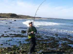 """""""Fish On"""" for Catfish Catalano who took Surfcasting Rookie of the Year honors for 2008"""